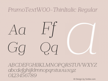PrumoTextW00-ThinItalic