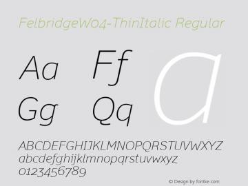 FelbridgeW04-ThinItalic