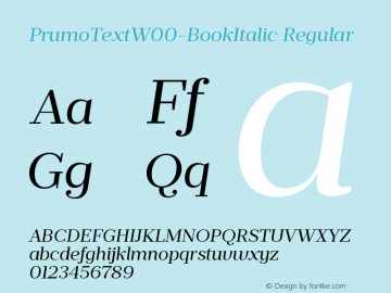 PrumoTextW00-BookItalic