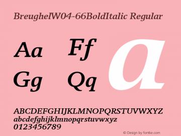 BreughelW04-66BoldItalic