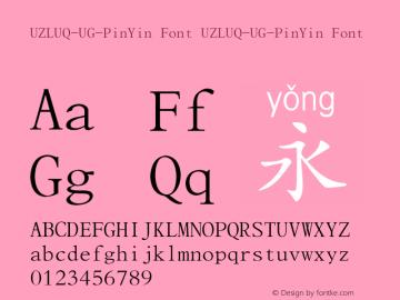 UZLUQ-UG-PinYin Font