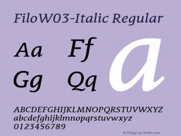FiloW03-Italic