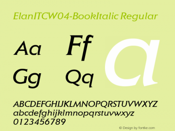 ElanITCW04-BookItalic