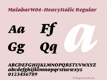 MalabarW04-HeavyItalic