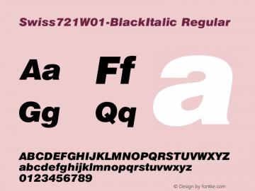 Swiss721W01-BlackItalic