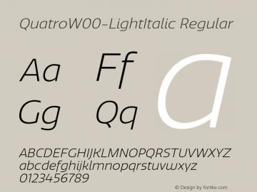 QuatroW00-LightItalic