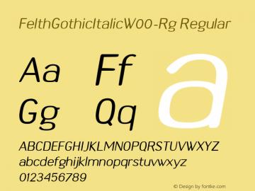 FelthGothicItalicW00-Rg