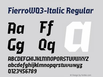 FierroW03-Italic
