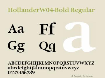 HollanderW04-Bold