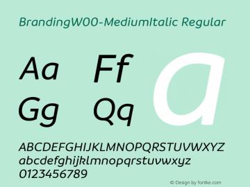 BrandingW00-MediumItalic