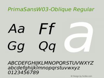 PrimaSansW03-Oblique