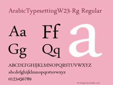 ArabicTypesettingW23-Rg