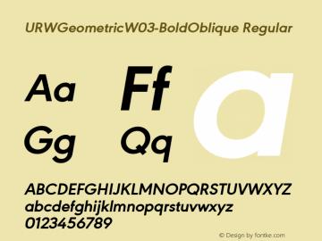 URWGeometricW03-BoldOblique
