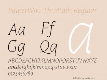PaiperW00-ThinItalic