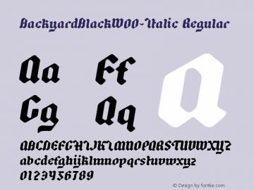 BackyardBlackW00-Italic