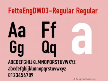 FetteEngDW03-Regular