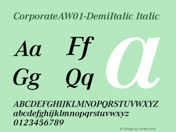 CorporateAW01-DemiItalic