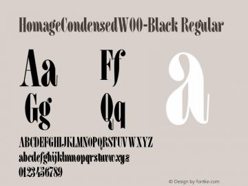 HomageCondensedW00-Black