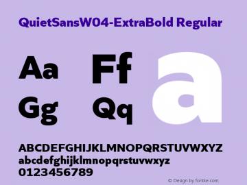 QuietSansW04-ExtraBold