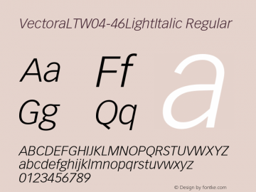 VectoraLTW04-46LightItalic
