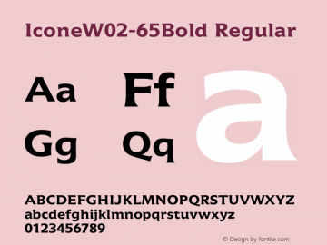 IconeW02-65Bold