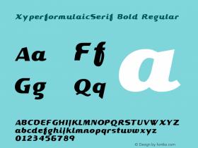 XyperformulaicSerif Bold