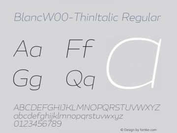 BlancW00-ThinItalic