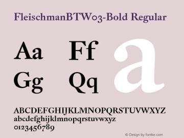 FleischmanBTW03-Bold