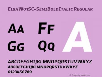 ElsaW01SC-SemiBoldItalic