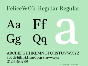 FeliceW03-Regular