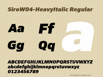 SiroW04-HeavyItalic
