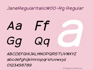 JaneRegularItalicW00-Rg