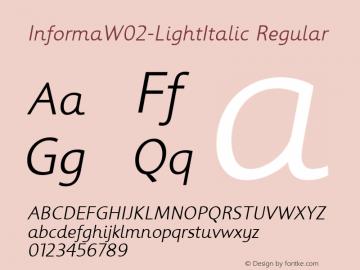 InformaW02-LightItalic