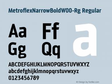 MetroflexNarrowBoldW00-Rg