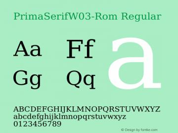 PrimaSerifW03-Rom