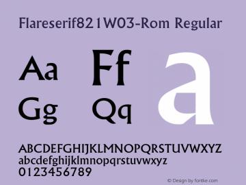 Flareserif821W03-Rom