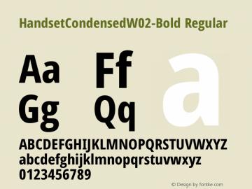 HandsetCondensedW02-Bold