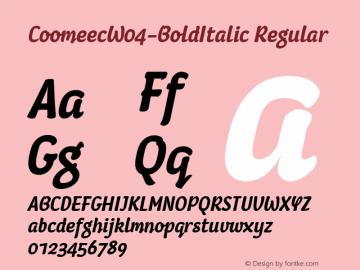 CoomeecW04-BoldItalic
