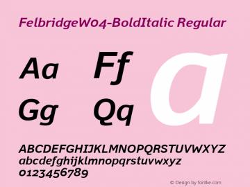 FelbridgeW04-BoldItalic