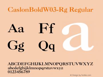 CaslonBoldW03-Rg