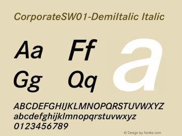 CorporateSW01-DemiItalic