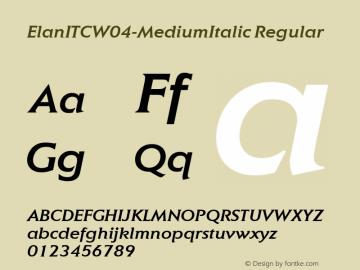 ElanITCW04-MediumItalic