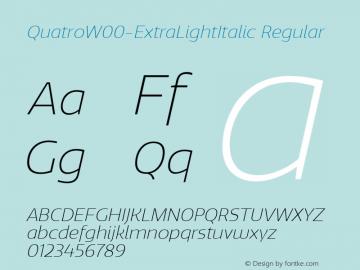 QuatroW00-ExtraLightItalic