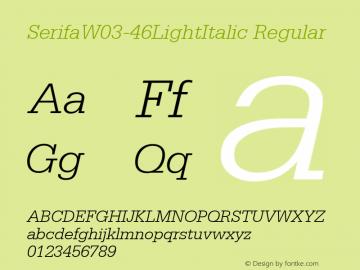 SerifaW03-46LightItalic