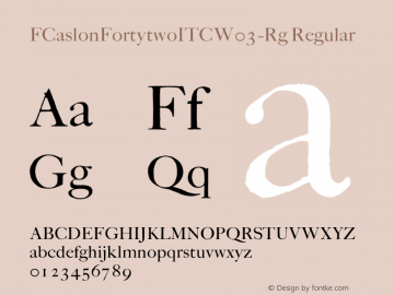 FCaslonFortytwoITCW03-Rg