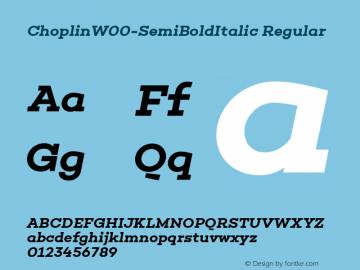 ChoplinW00-SemiBoldItalic