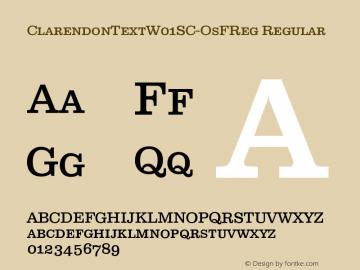 ClarendonTextW01SC-OsFReg