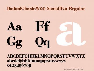 BodoniClassicW01-StencilFat