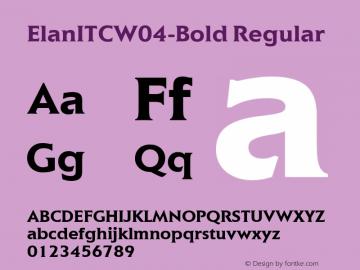 ElanITCW04-Bold