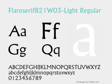 Flareserif821W03-Light